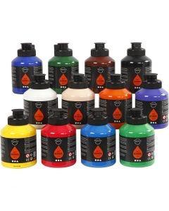 Pigment Art School Paint, standard colours, 12x500 ml/ 1 box