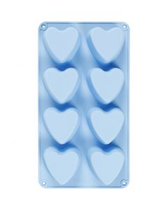 Silicone mould, hearts, H: 3,5 cm, L: 35 cm, W: 21 cm, hole size 70x60 mm, 100 ml, 1 pc