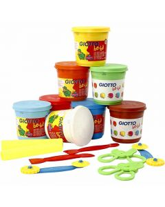 Modelling Clay, assorted colours, 8x220 g/ 1 pack