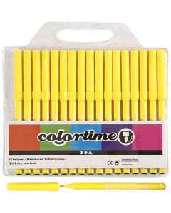 Colortime Marker, line 2 mm, lemon yellow, 18 pc/ 1 pack