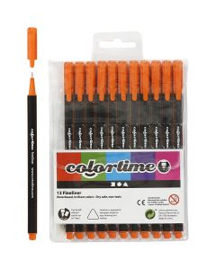 Colortime Fineliner, line 0,6-0,7 mm, orange, 12 pc/ 1 pack