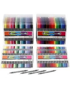Colortime Double Marker, line 2,3+3,6 mm, standard colours, additional colours, 24 pack/ 1 pack