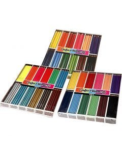 Colortime colouring pencils, assorted colours, 576 pc/ 1 pack