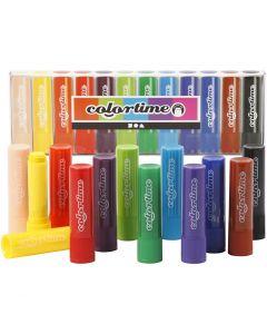 Soft Color Stick, L: 8 cm, assorted colours, 12 pc/ 1 pack