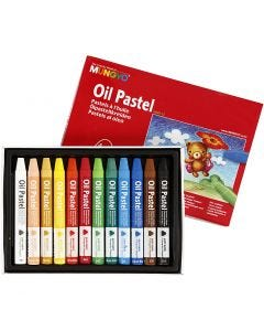 Mungyo Oil Pastel, L: 7 cm, thickness 10 mm, assorted colours, 12 pc/ 1 pack