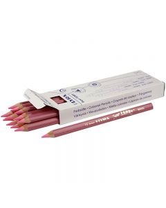 Super Ferby 1 colouring pencils, L: 18 cm, lead 6.25 mm, light red, 12 pc/ 1 pack