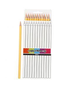 Colortime colouring pencils, L: 17 cm, lead 3 mm, 12 pc/ 1 pack