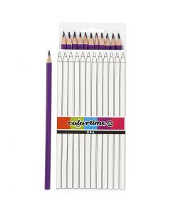 Colortime colouring pencils, L: 17 cm, lead 3 mm, purple, 12 pc/ 1 pack