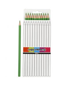 Colortime colouring pencils, L: 17 cm, lead 3 mm, light green, 12 pc/ 1 pack