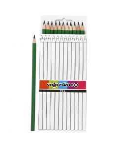 Colortime colouring pencils, L: 17 cm, lead 3 mm, green, 12 pc/ 1 pack