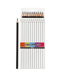 Colortime colouring pencils, L: 17 cm, lead 3 mm, black, 12 pc/ 1 pack