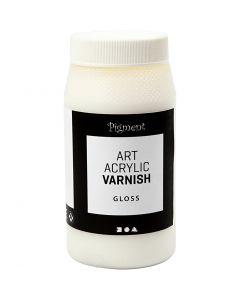Art Acrylic Varnish, matt, Gloss transparent, white, 500 ml/ 1 tub
