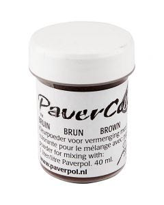 Pavercolor, brown, 40 ml/ 1 bottle