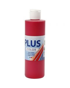 Plus Color Craft Paint, berry red, 250 ml/ 1 bottle