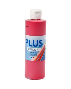 Plus Color Craft Paint, primary red, 250 ml/ 1 bottle