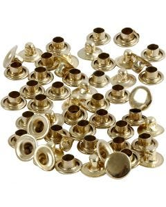 Rivets, D: 7 mm, brass, 50 pc/ 1 pack
