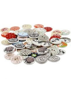 Design Buttons, D: 20 mm, Content may vary , 180 pc/ 1 pack