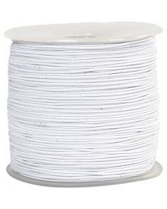 Elastic Beading Cord, thickness 1 mm, white, 250 m/ 1 roll