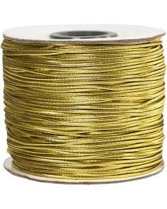 Elastic Beading Cord, thickness 1 mm, gold, 100 m/ 1 roll