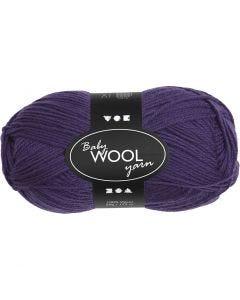 Baby Yarn, L: 172 m, dark purple, 50 g/ 1 ball
