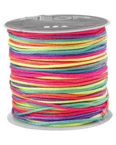 Nylon cord, thickness 1 mm, neon lilac, 28 m/ 1 roll