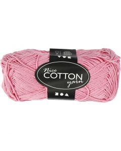 Mercerized Cotton Yarn, no. 6S/4, L: 165 m, light red, 50 g/ 1 ball