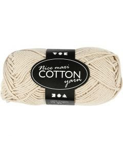 Cotton Yarn, no. 8/8, L: 80-85 m, size maxi , beige, 50 g/ 1 ball