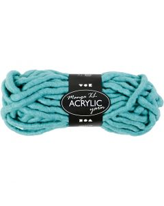 Chunky yarn of acrylic, L: 17 m, size manga , turquoise, 200 g/ 1 ball