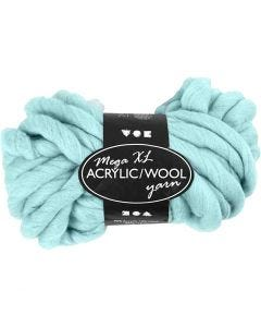 Chunky yarn of acrylic/wool, L: 15 m, size mega , turquoise, 300 g/ 1 ball