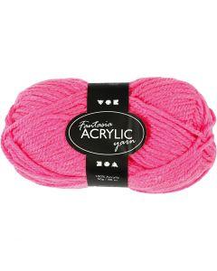 Fantasia Acrylic Yarn, L: 80 m, neon pink, 50 g/ 1 ball