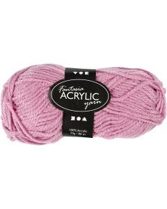 Fantasia Acrylic Yarn, L: 80 m, rose, 50 g/ 1 ball