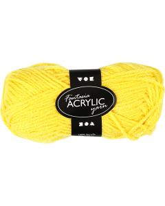 Fantasia Acrylic Yarn, L: 80 m, yellow, 50 g/ 1 ball