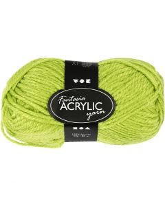 Fantasia Acrylic Yarn, L: 80 m, light green, 50 g/ 1 ball
