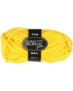 Fantasia Acrylic Yarn, L: 35 m, size maxi , yellow, 50 g/ 1 ball