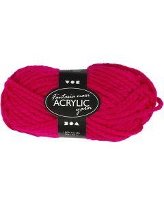 Fantasia Acrylic Yarn, L: 35 m, size maxi , fuchsia, 50 g/ 1 ball