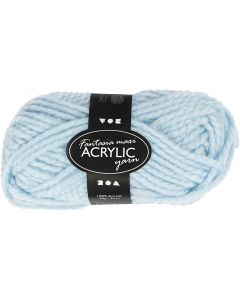 Fantasia Acrylic Yarn, L: 35 m, size maxi , light blue, 50 g/ 1 ball