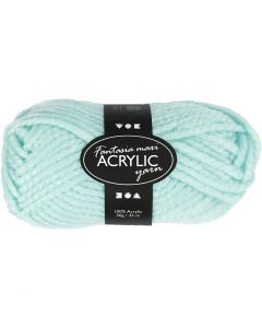 Fantasia Acrylic Yarn, L: 35 m, size maxi , mint green, 50 g/ 1 ball