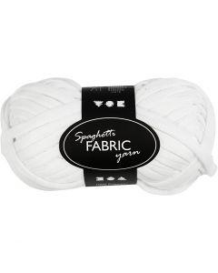 Spaghetti yarn, L: 35 m, white, 100 g/ 1 ball