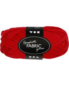 Spaghetti yarn, L: 35 m, red, 100 g/ 1 ball