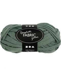 Spaghetti yarn, L: 35 m, dark green, 100 g/ 1 ball