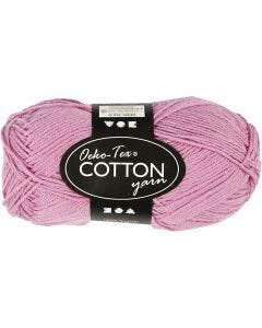 Cotton Yarn, no. 8/4, L: 170 m, light red, 50 g/ 1 ball
