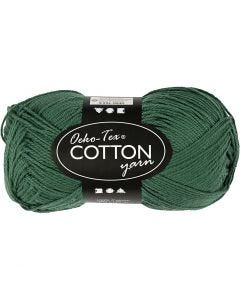 Cotton Yarn, no. 8/4, L: 170 m, dark green, 50 g/ 1 ball