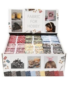 Patchwork fabric, size 45x55 cm, 100 g, assorted colours, 48 bundle/ 1 pack