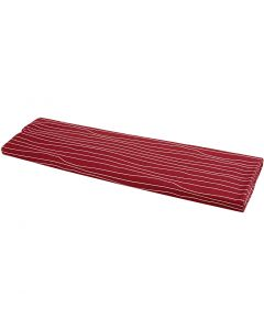 Fabric, W: 145 cm, 140 g, red/white, 10 m/ 1 roll