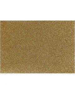 Iron on foil, 148x210 mm, glitter, gold, 1 sheet