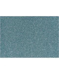 Iron on foil, 148x210 mm, glitter, light blue, 1 sheet