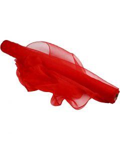 Organza Fabric, W: 50 cm, red, 10 m/ 1 roll