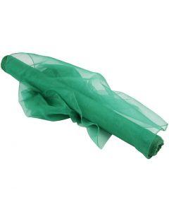 Organza Fabric, W: 50 cm, green, 10 m/ 1 roll