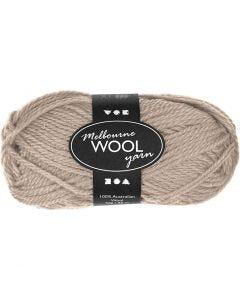 Melbourne Yarn, L: 92 m, beige, 50 g/ 1 ball