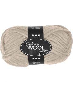 Sydney Yarn, L: 50 m, beige, 50 g/ 1 ball